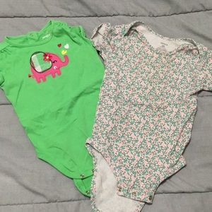 Other - GUC TWO toddler girls onesies